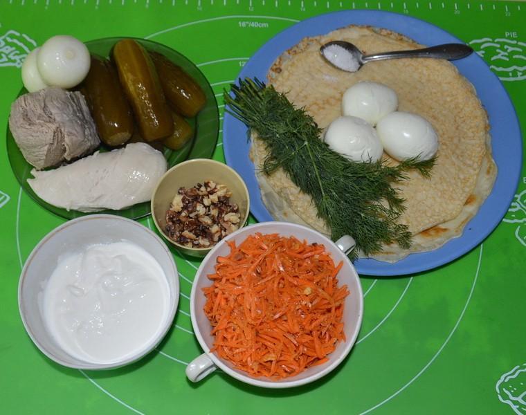 рецепт салата кояш с морковью