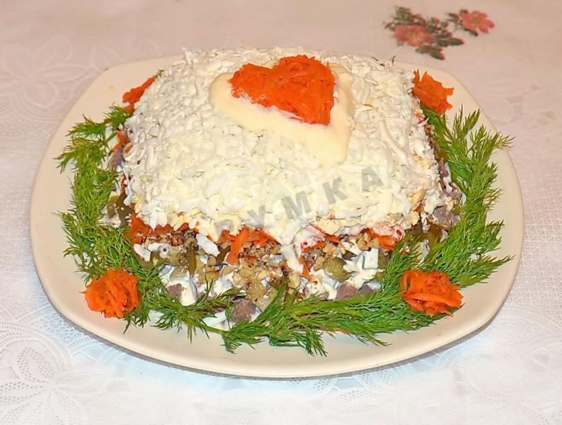 Салат с сердцем свиным и соленым огурцом рецепты 19