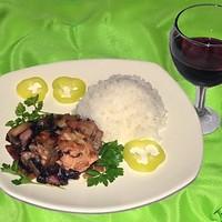 Курица в красном вине
