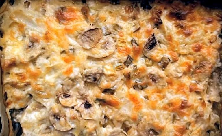 курица с грибами с сыром в духовке рецепт с фото