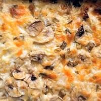 Грибы с куриным филе и сыром в духовке
