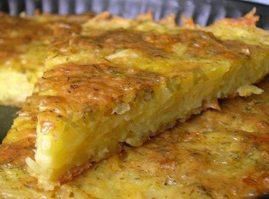 Картофельная запеканка с сыром и сметаной в духовке с фото