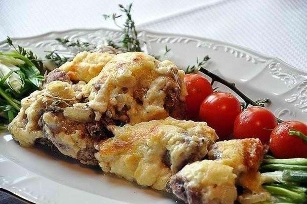 Мясо по-французски в сливках рецепт пошагово