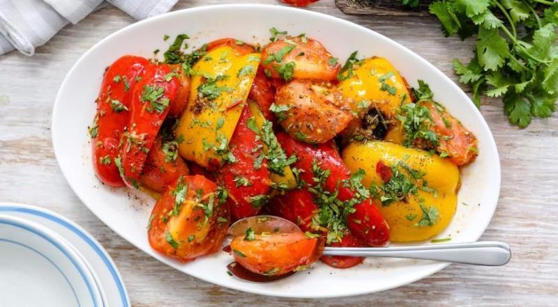 жареных фото перцев рецепт салат из