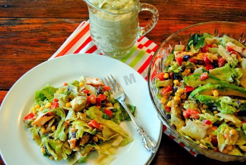 Салат с авокадоы без майонеза