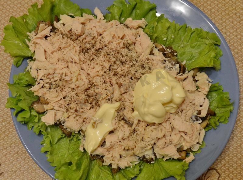 Салат каллы рецепт с с ананасом и