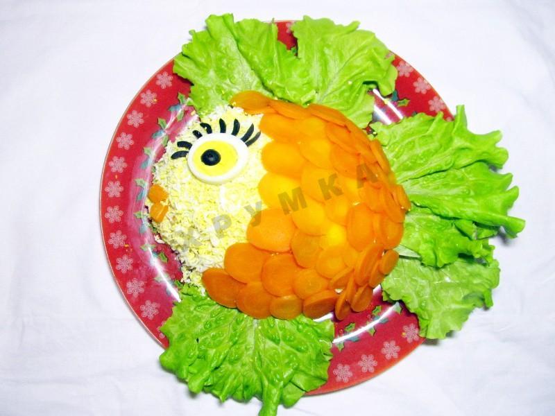 Салат золотая рыбка рецепт пошагово в 8