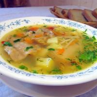 Суп из кролика для детей с вермишелью