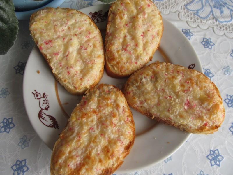 бутерброды рецепты с фото с крабовыми палочками