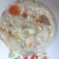 Суп с плавленым сыром и овощами
