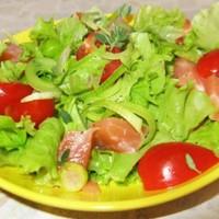 Салат с семгой слабосоленой на скорую руку