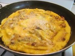Омлет с курицей и луком - рецепт пошаговый с фото