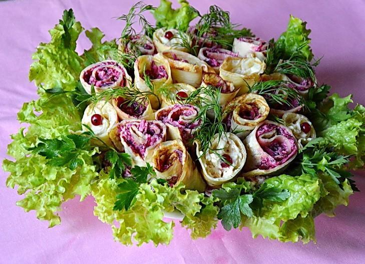 Салат букет невесты пошаговый рецепт