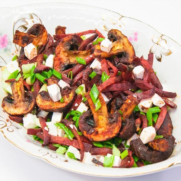 салат морковь с грибами рецепт с фото пошагово
