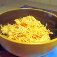 Салат Морковь с майонезом и чесноком