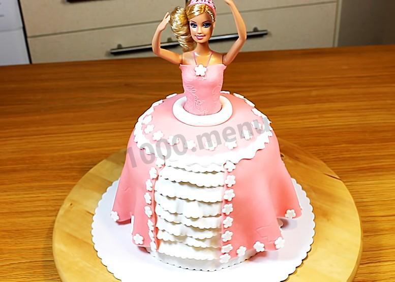 Пошаговое фото торт барби