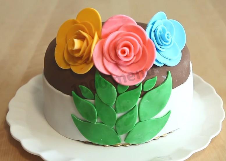 торт голубая роза рецепт