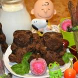 Шоколадно-банановые маффины Мишка Барни