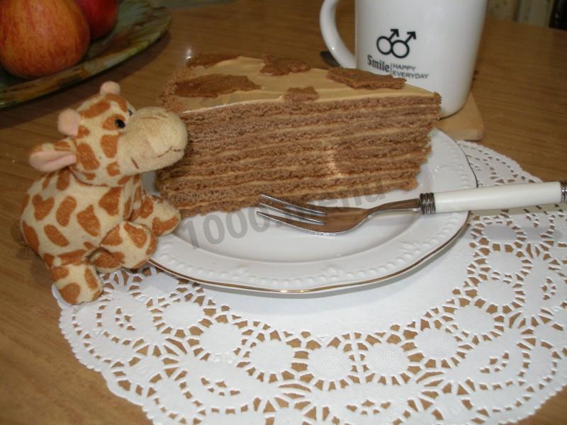 медовик пирожное калорийность