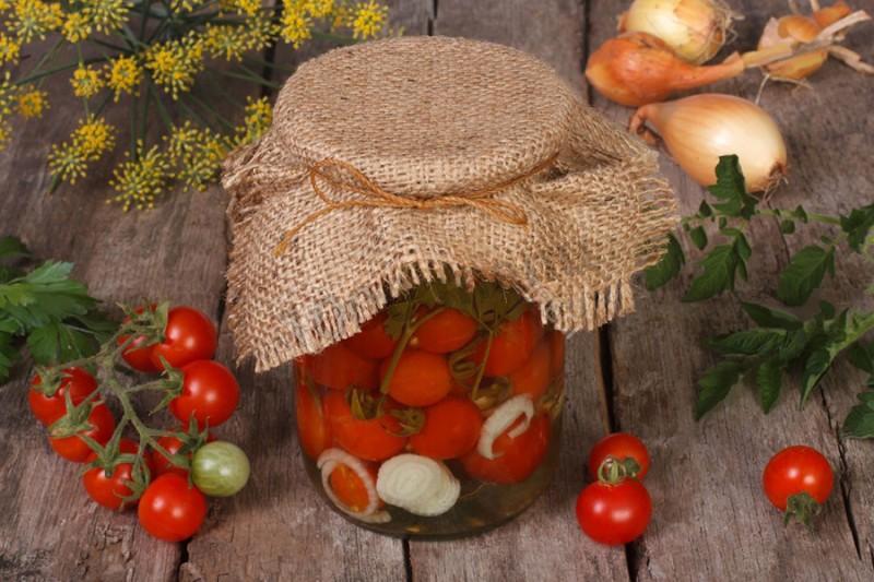 помидоры черри зелёные маринованные