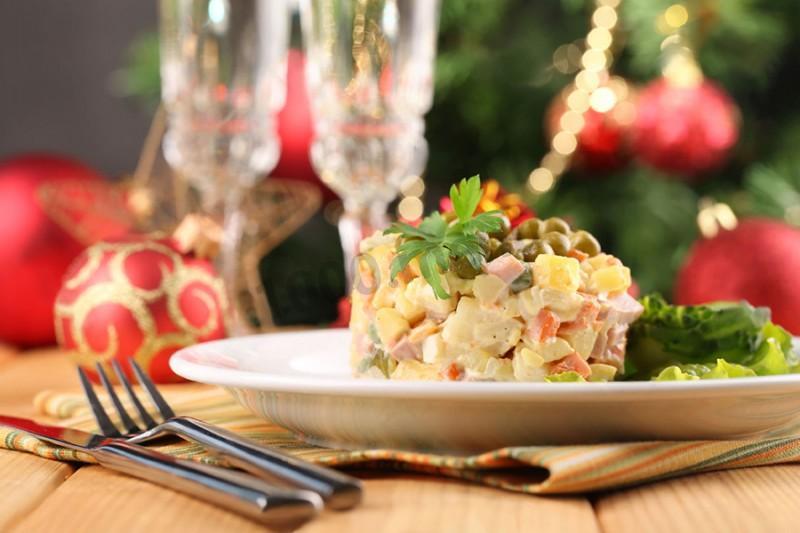 Оливье классический с колбасой рецепт