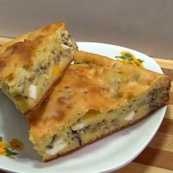 рыбный пирог с сайрой из дрожжевого теста рецепт