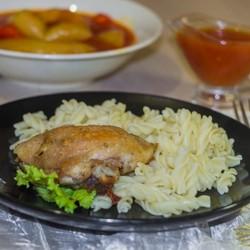 Курица с чесноком в майонезе в духовке