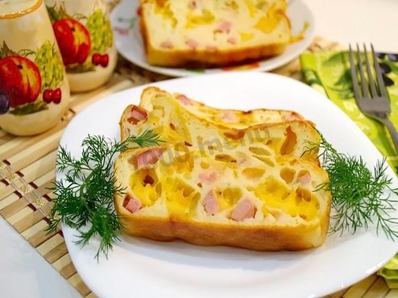 Пирог в мультиварке с колбасой рецепты 34