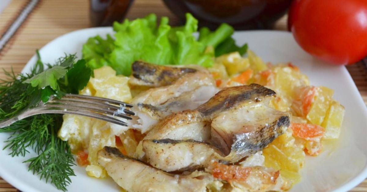 приготовить скумбрию в духовке вкусно с овощами фото пошагово