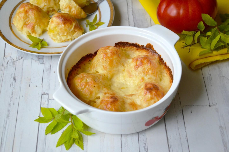 Отварная картошка с сыром в духовке