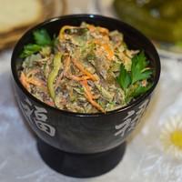 Салат Зимушка с куриной печенью