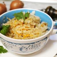 Рецепт некалорийной жареной квашеной капусты