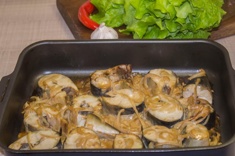 Рецепт скумбрии запеченной в духовке пошагово