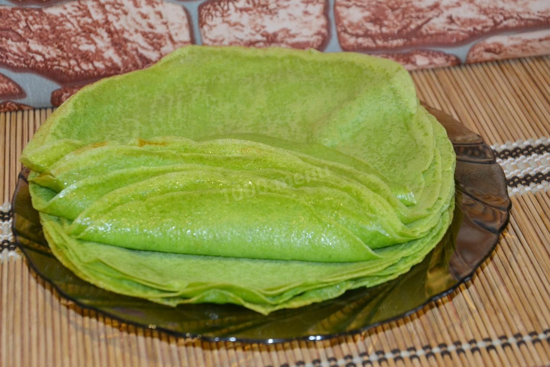 зеленые блины рецепт с фото вопрос как правильно