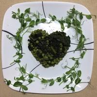 Зеленый горошек по французски с капустой кале