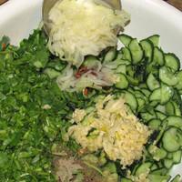 Китайский цитрусово-мясной салат без майонеза