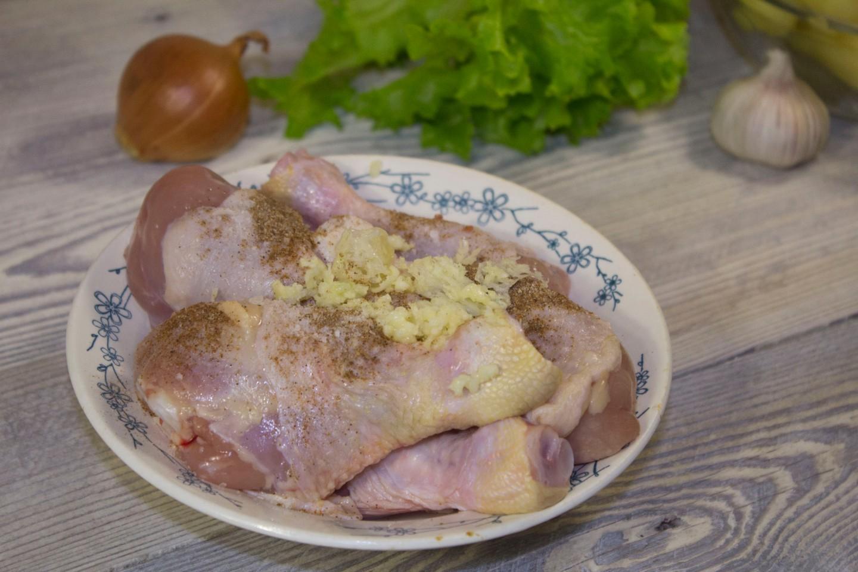 Курица с картошкой в рукаве, пошаговый рецепт с фото