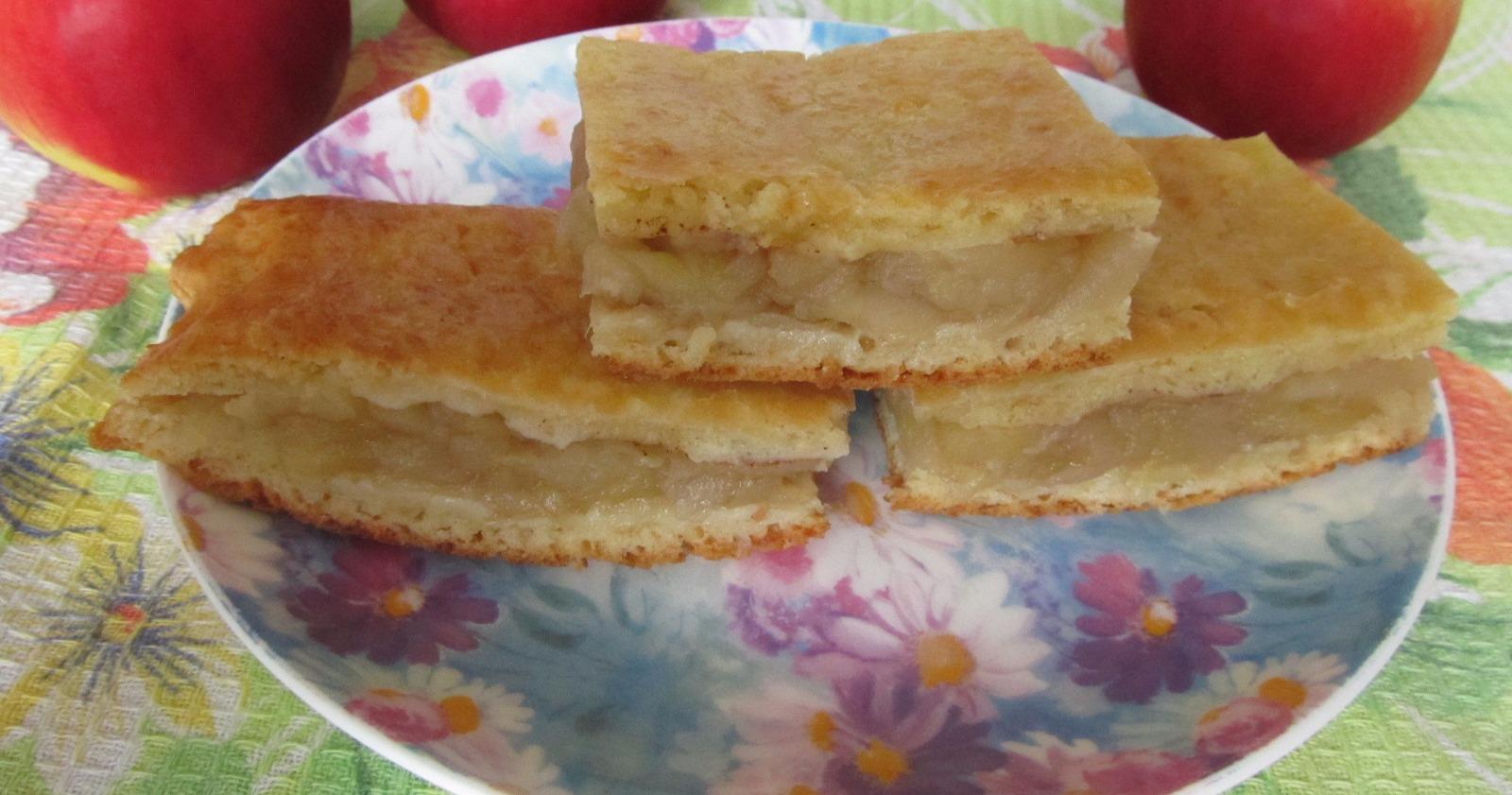 Кефир яблоки пирог рецепт пошагово