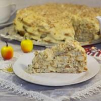 Торт Наполеон из печенья ушки