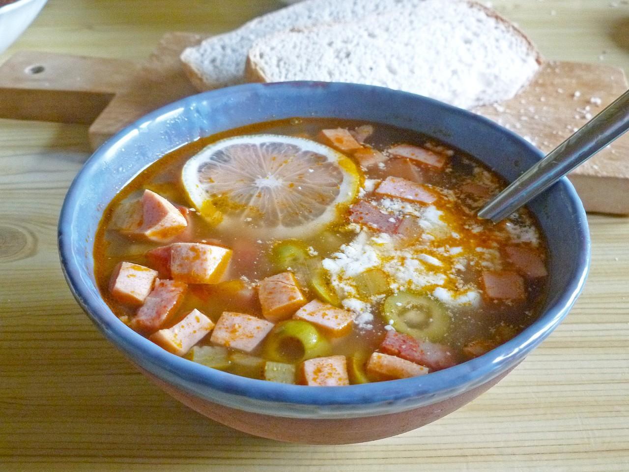суп солянка рецепт классический пошаговый рецепт с фото