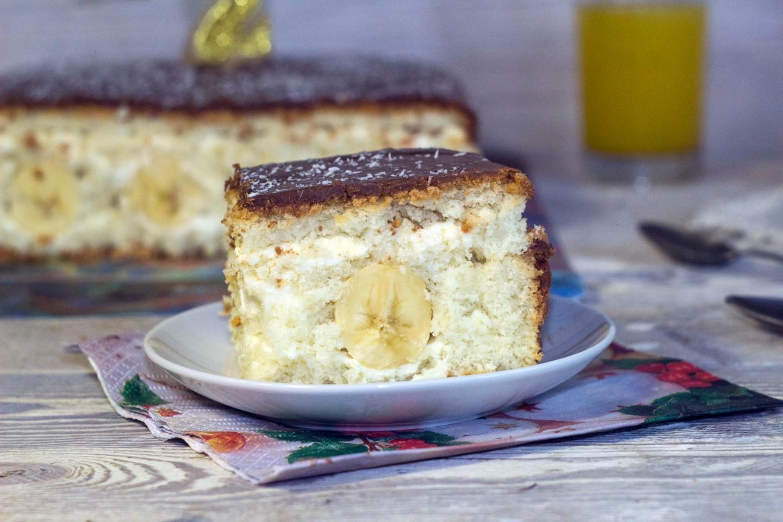 Банановый бисквитный торт рецепт с фото пошагово в домашних условиях
