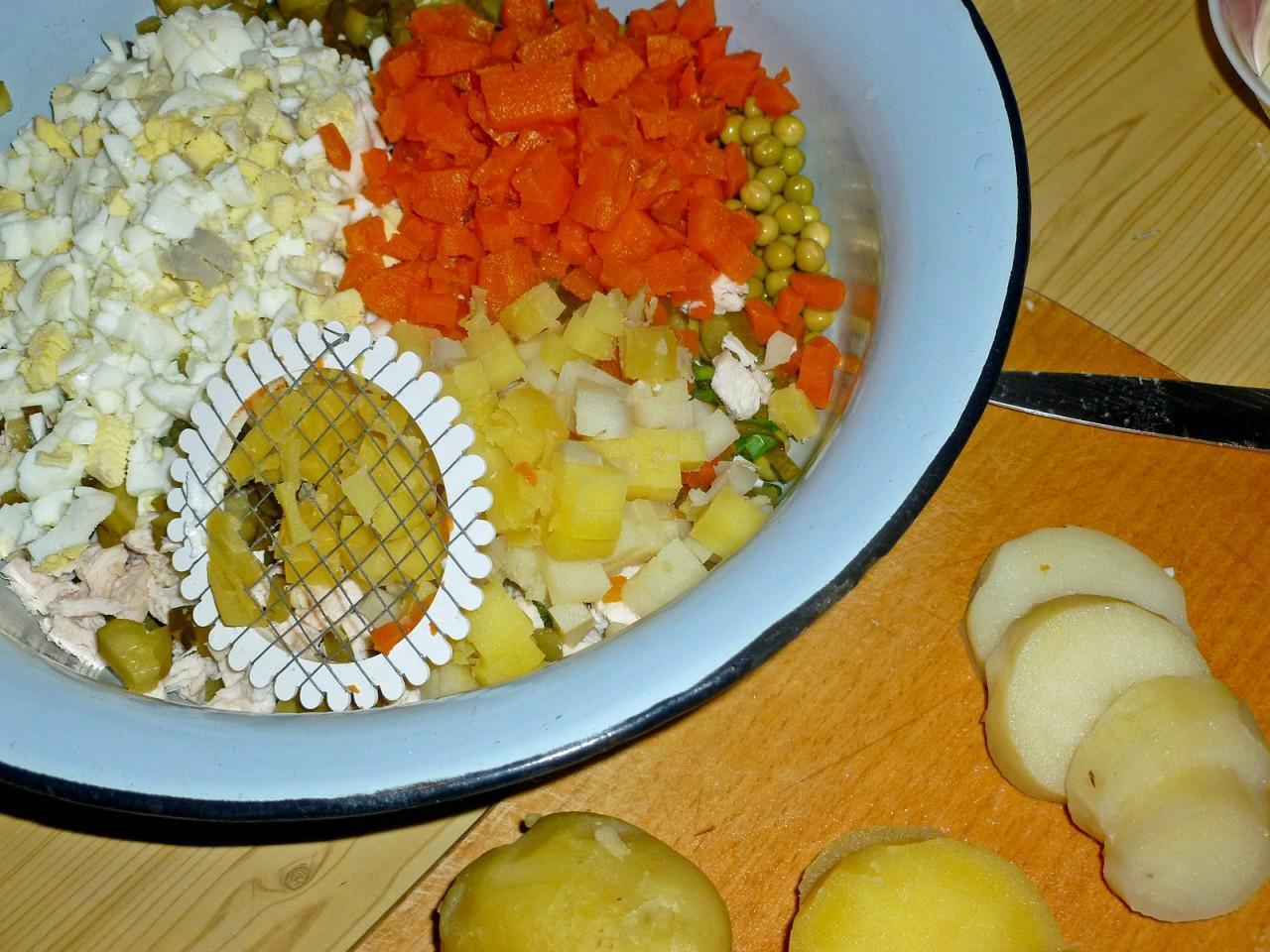 Рецепт салата столичный пошагово