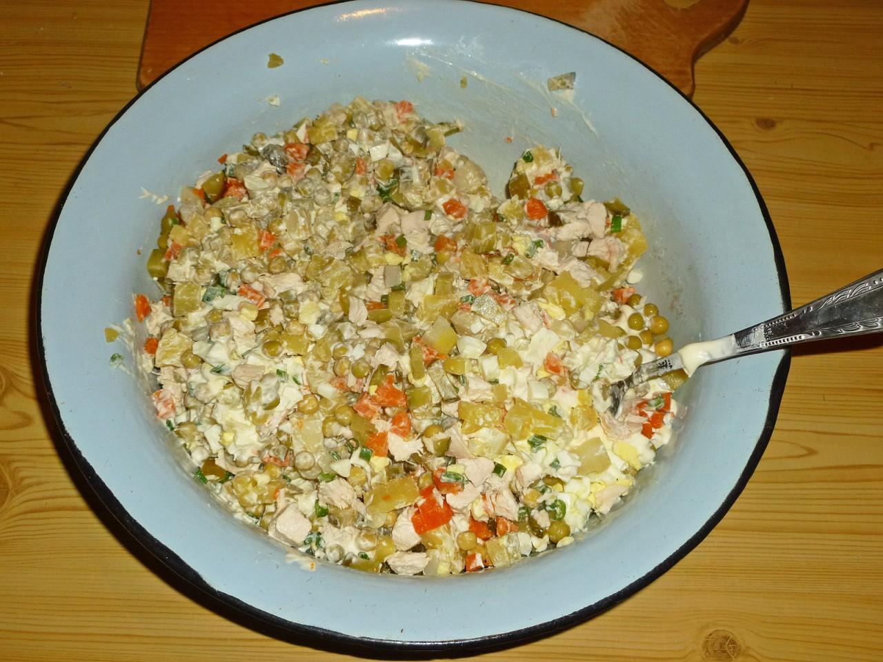 Пошаговые рецепты салатов из курицы