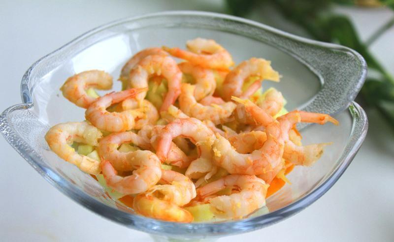 Салат невеста с креветками рецепт