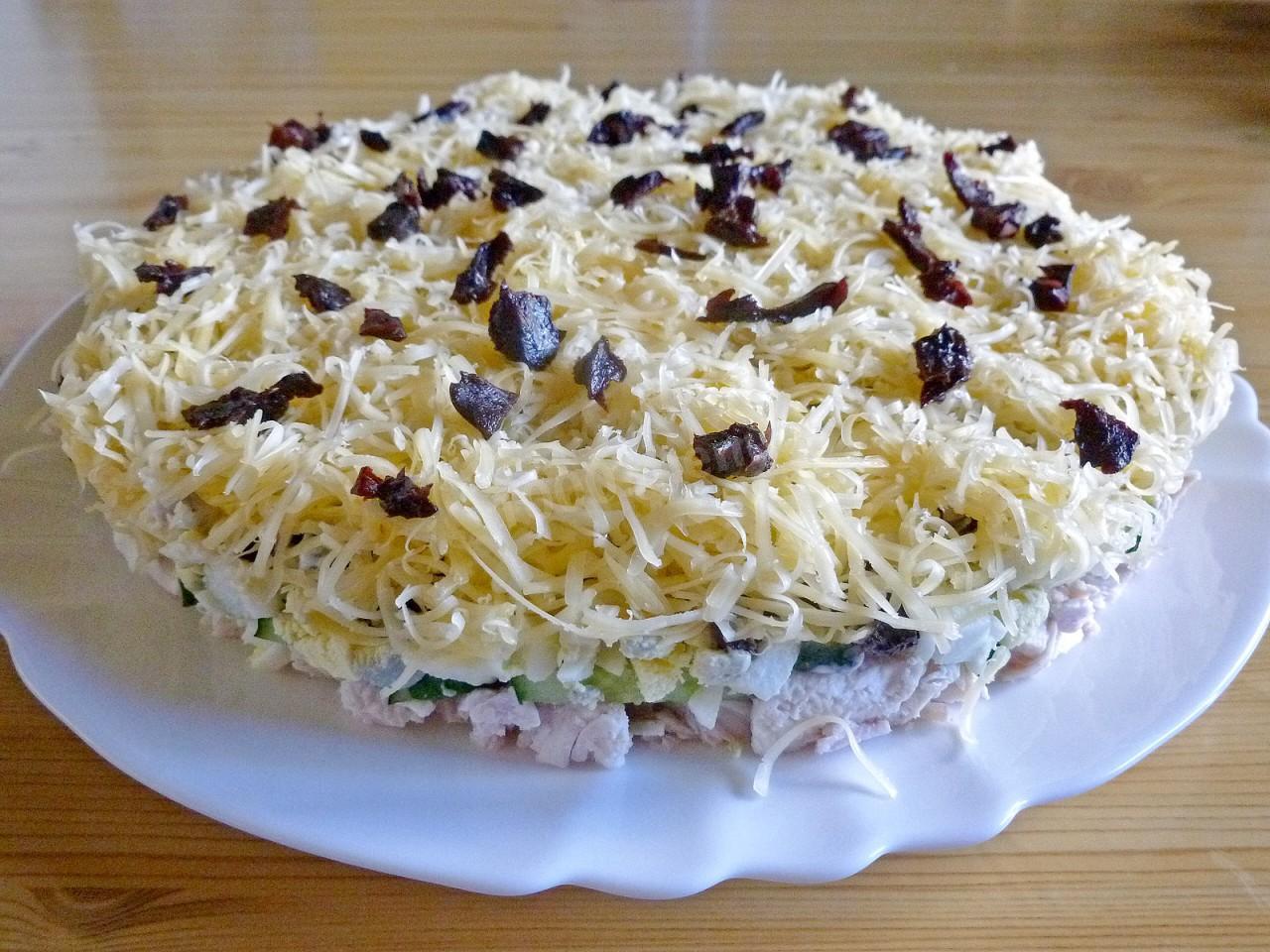 Дамский каприз салат слоями рецепт с