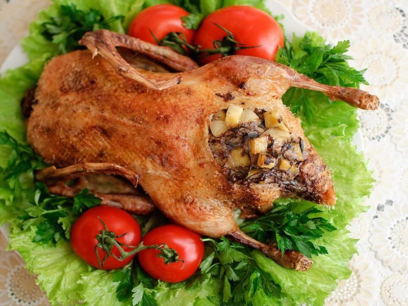 293Рецепт фаршированной утки картофелем и грибами