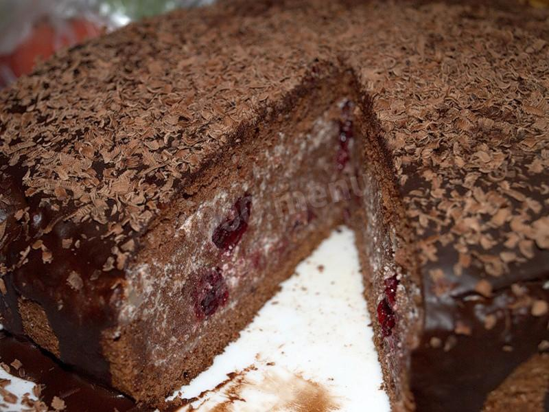 торт пьяная вишня рецепт в мультиварке