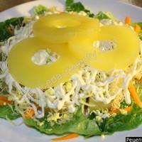 Салат с ананасами сыром и морковью
