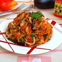 Баклажаны с морковью по корейски