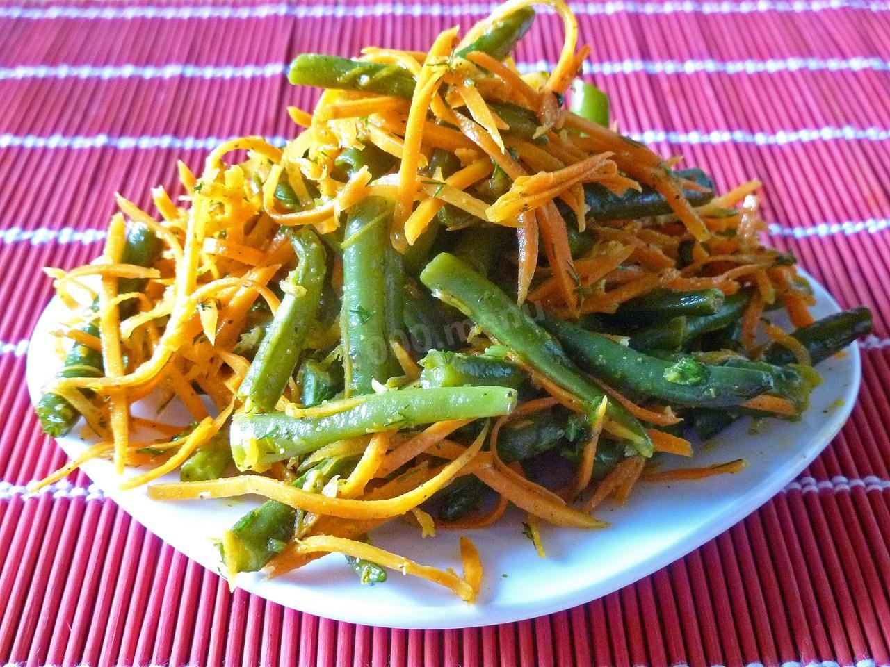 Спаржевая фасоль салаты с
